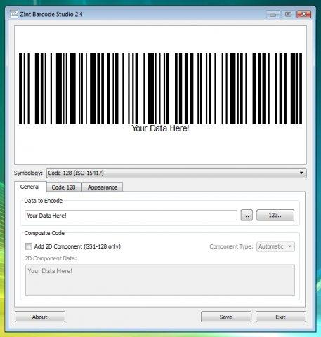 Zint Barcode Generator